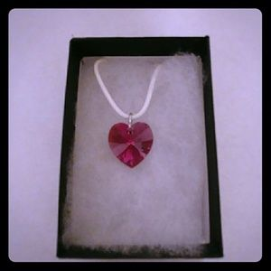 Jewelry - Wild Rose Crystal Heart Necklace